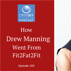 What foods did Drew eat to get from fit to fat during his weight loss experiment?