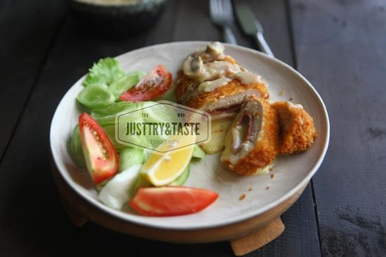 Resep Chicken Cordon Bleu Dengan Saus Jamur Resep Chicken Cordon