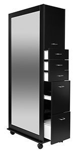 Keen Richmond Back To Back Salon Styling Tower Midnight Black Rm B2b Mb With Images Salon Decor Beauty Salon Decor Cheap Countertops