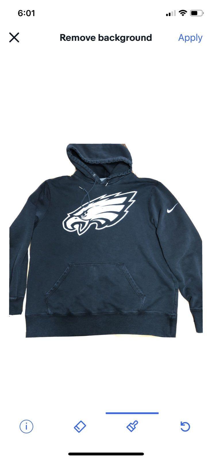 Nike Nfl Philadelphia Eagles Classic Hoodie Sweatshirt Black Tagged Men S Xl Could Fit Large 80 Cotton 20 Philadelphia Eagles Hoodie Hoodies Nike Nfl [ 1600 x 738 Pixel ]