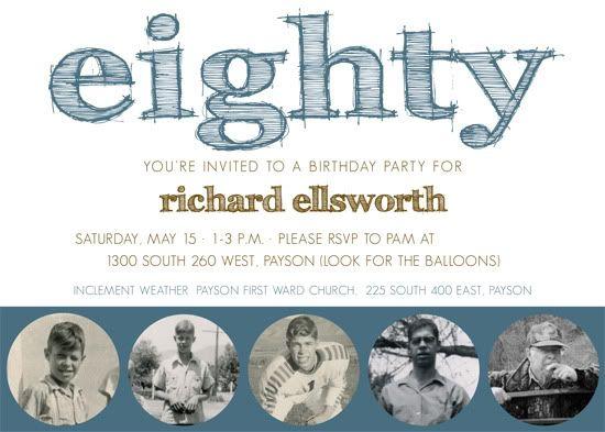 80th Birthday Party Invitation Invites Pinterest 80 Birthday