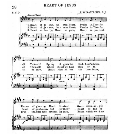 A hymn about Jesus' Sacred Heart - written in 1921 or before