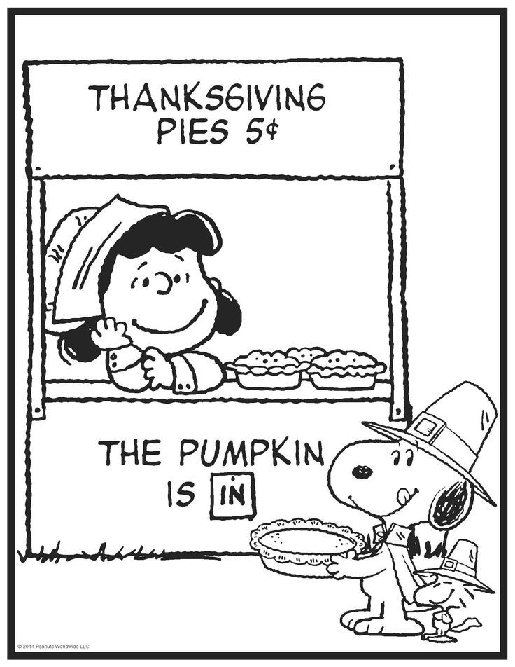 Image result for peanuts gang coloring pages | Thanksgiving ...