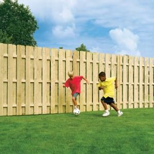 6 Ft H X 8 Ft W Pressure Treated Pine Shadowbox Fence Panel