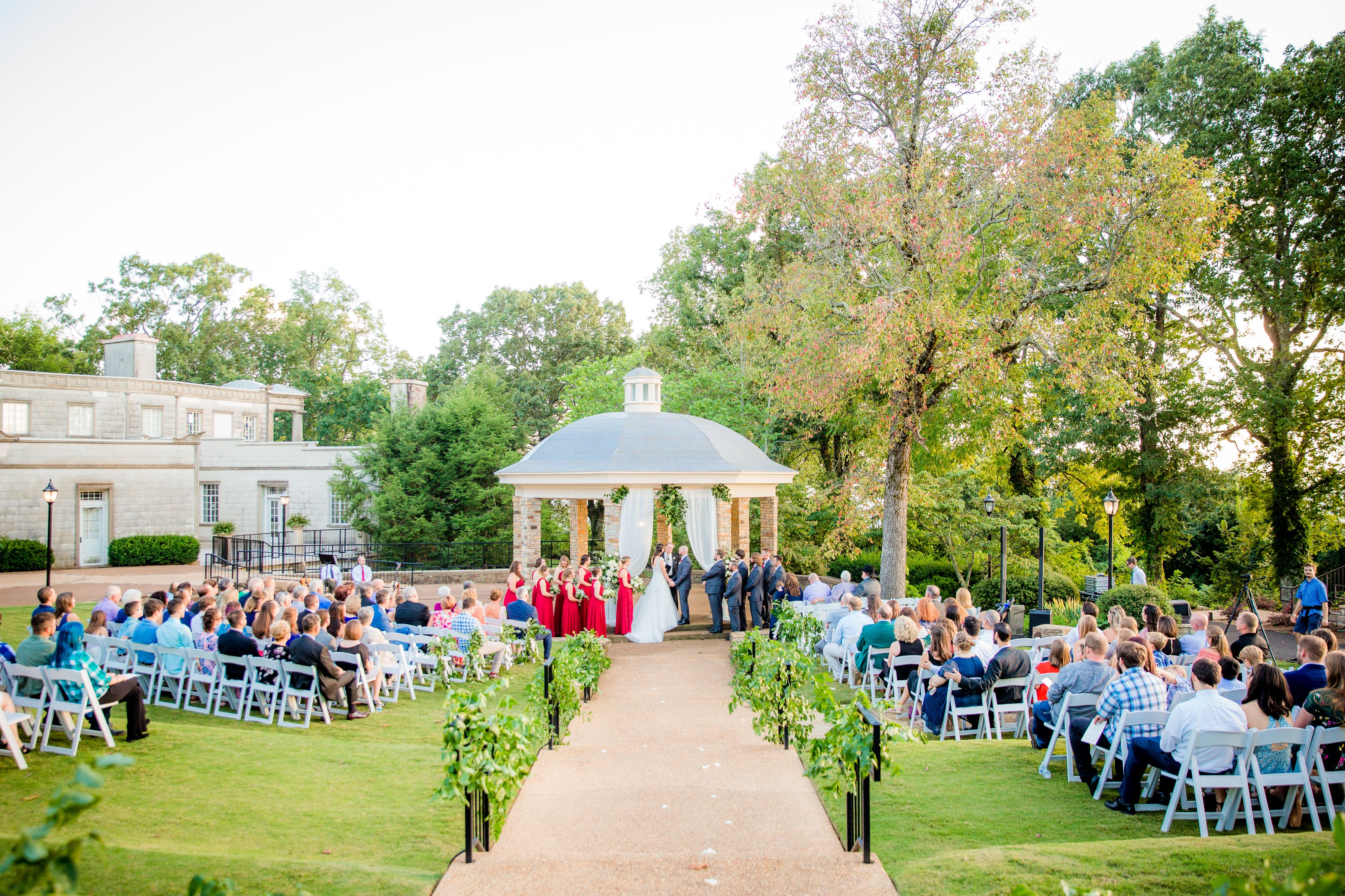 Wedding Ceremony At Burritt On The Mountain Romantic Wedding Venue Ceremony Inspiration Greenery Wedding
