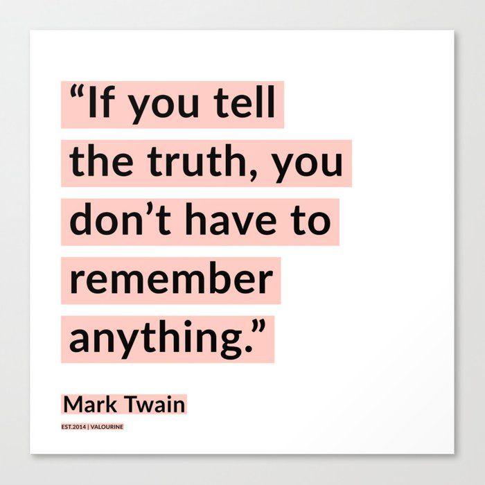 56  | Mark Twain Quotes 200908 Motivational Inspirational Inspiring Motivating Canvas Print by Wordz