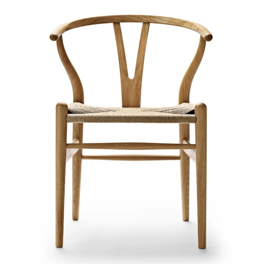 CH24 Wishbone Chair in Oiled Oak & Natural Paper Cord en