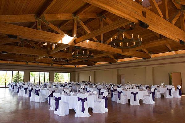 Wedding Purplewedding Reception Room Decorated With Purple And White Chair Covers Roomsreception Decorationswhite