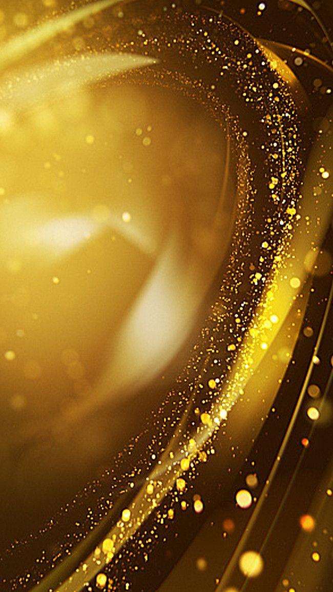 บรรยากาศเย็นพื้นหลังสีทอง H5 เทคโนโลยีแบบไดนามิก