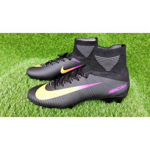 size 40 2420e f91db Discount Nike Mercurial Superfly V FG Black Purple Yellow ...