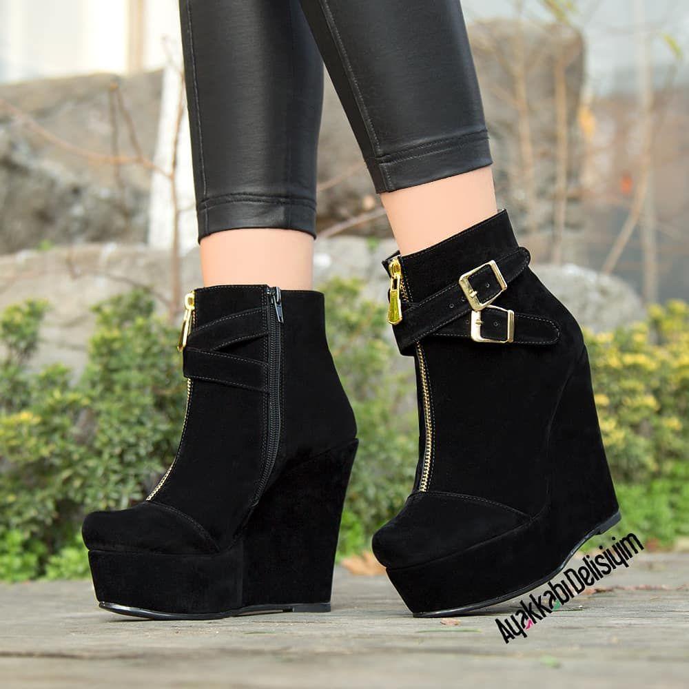 1 808 Begenme 14 Yorum Instagram 39 Da Ayakkabi Delisiyim Ayakkabidelisiyim Quot Urun Adi Pelisa Siyah Suet Fiyati 119 Shoes Wedge Boot Fashion