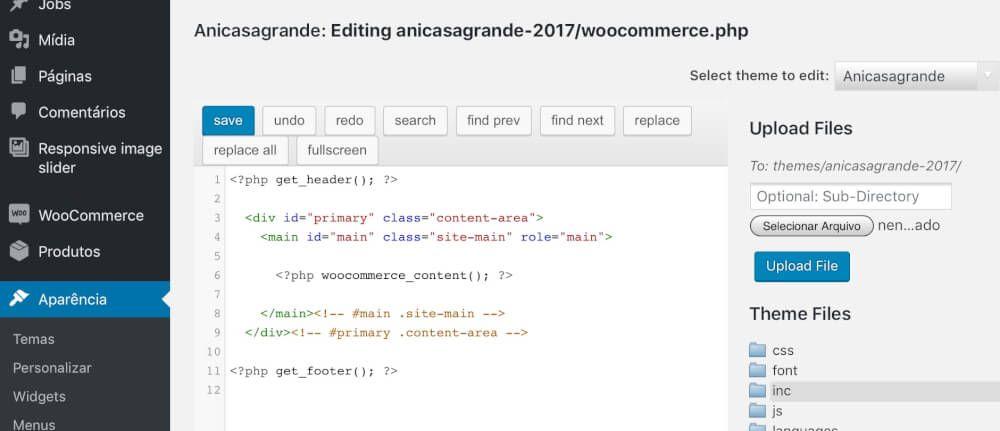 Deixando tema wordpress compatível com woocommerce - Ani Casagrande ...