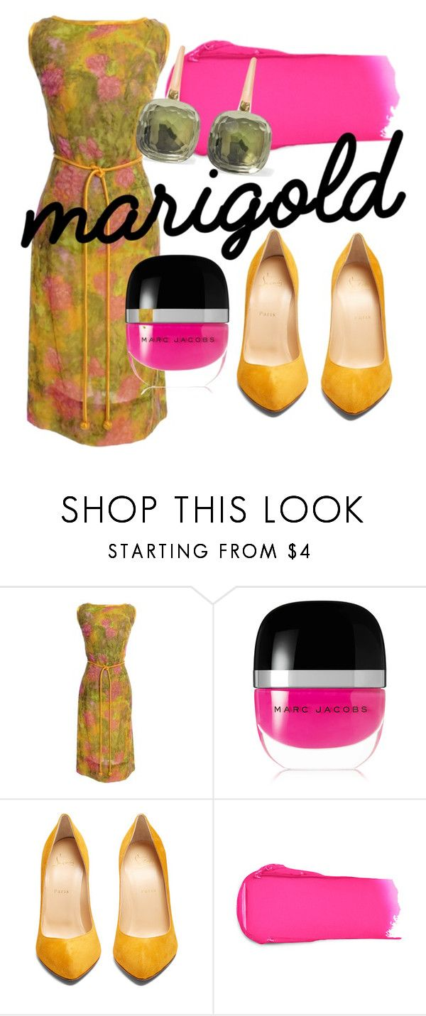 """""""Marigold"""" by foldym-sd ❤ liked on Polyvore featuring Marc Jacobs, Christian Louboutin, Rossetto and Pomellato"""