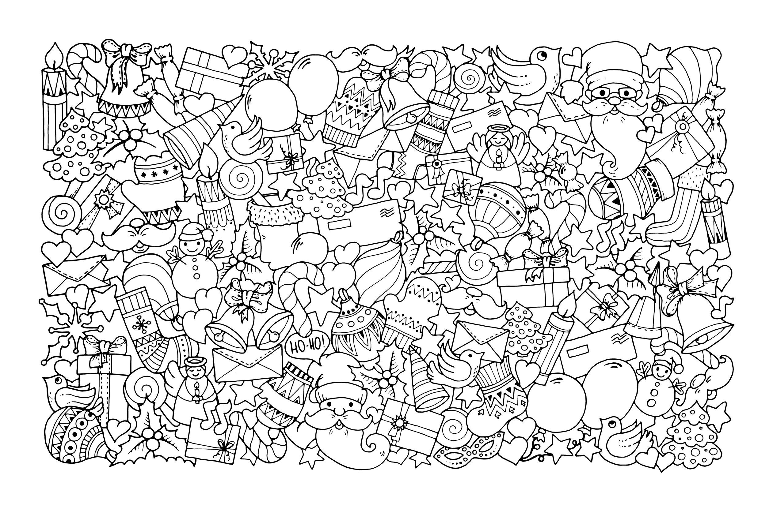 Adult christmas coloring pages coloring pages for kids colouring