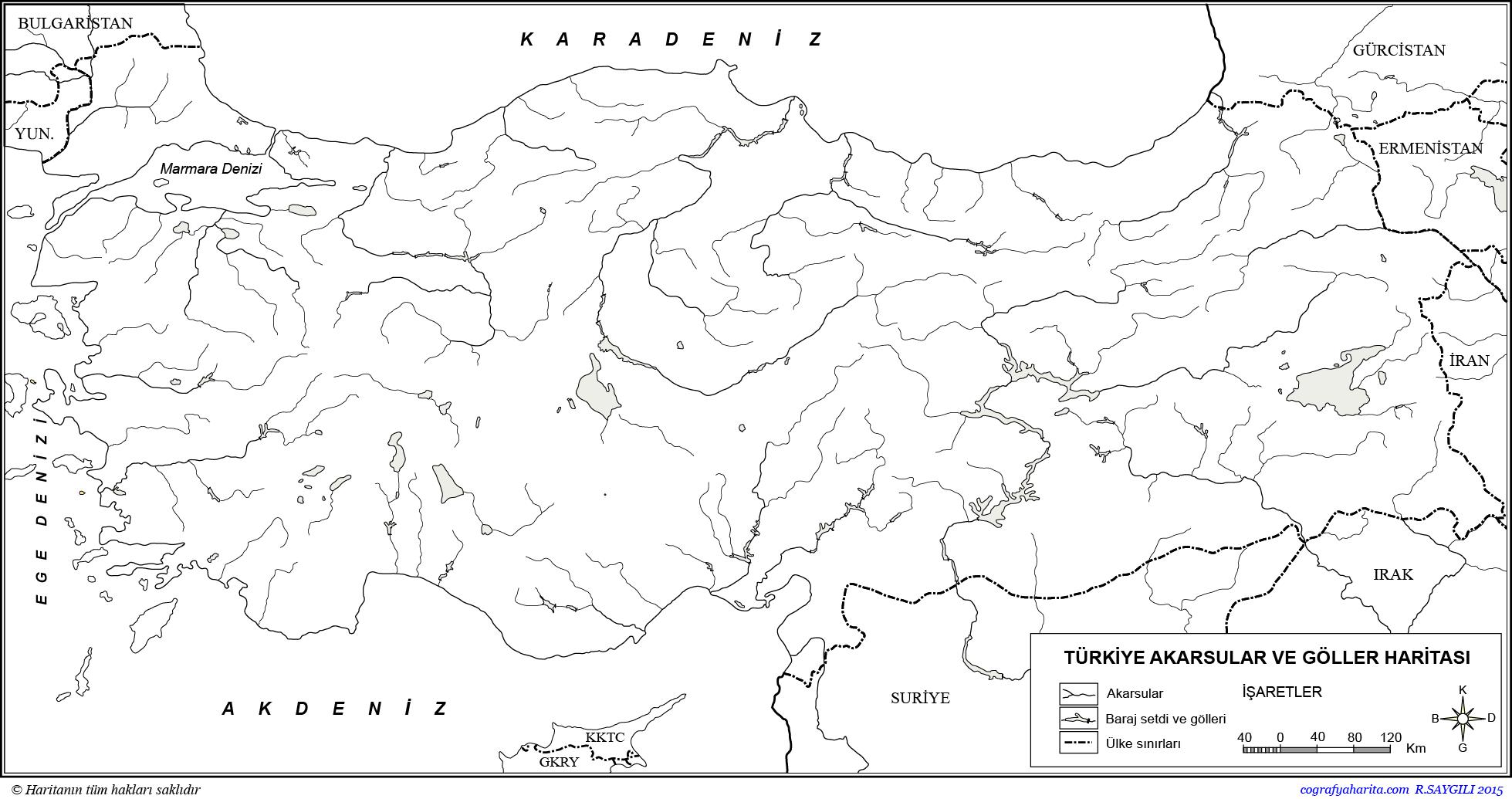 4jturkiye Dilsiz Akarsular Ve Goller Haritasi Tekr Png 1959 1035 Harita Haritalar Goller