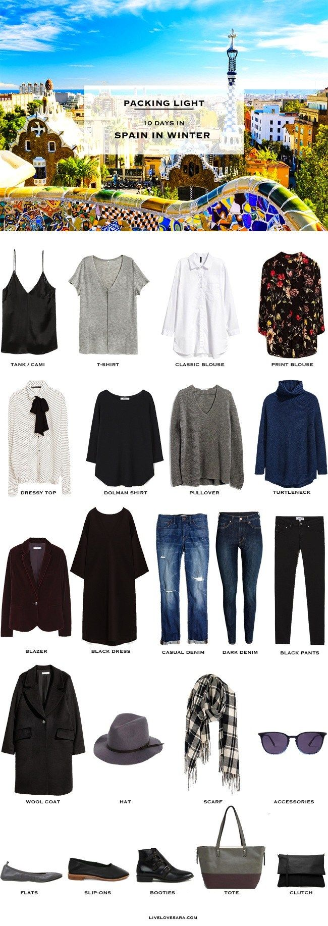 What to Pack for Spain in Winter – Packing Light