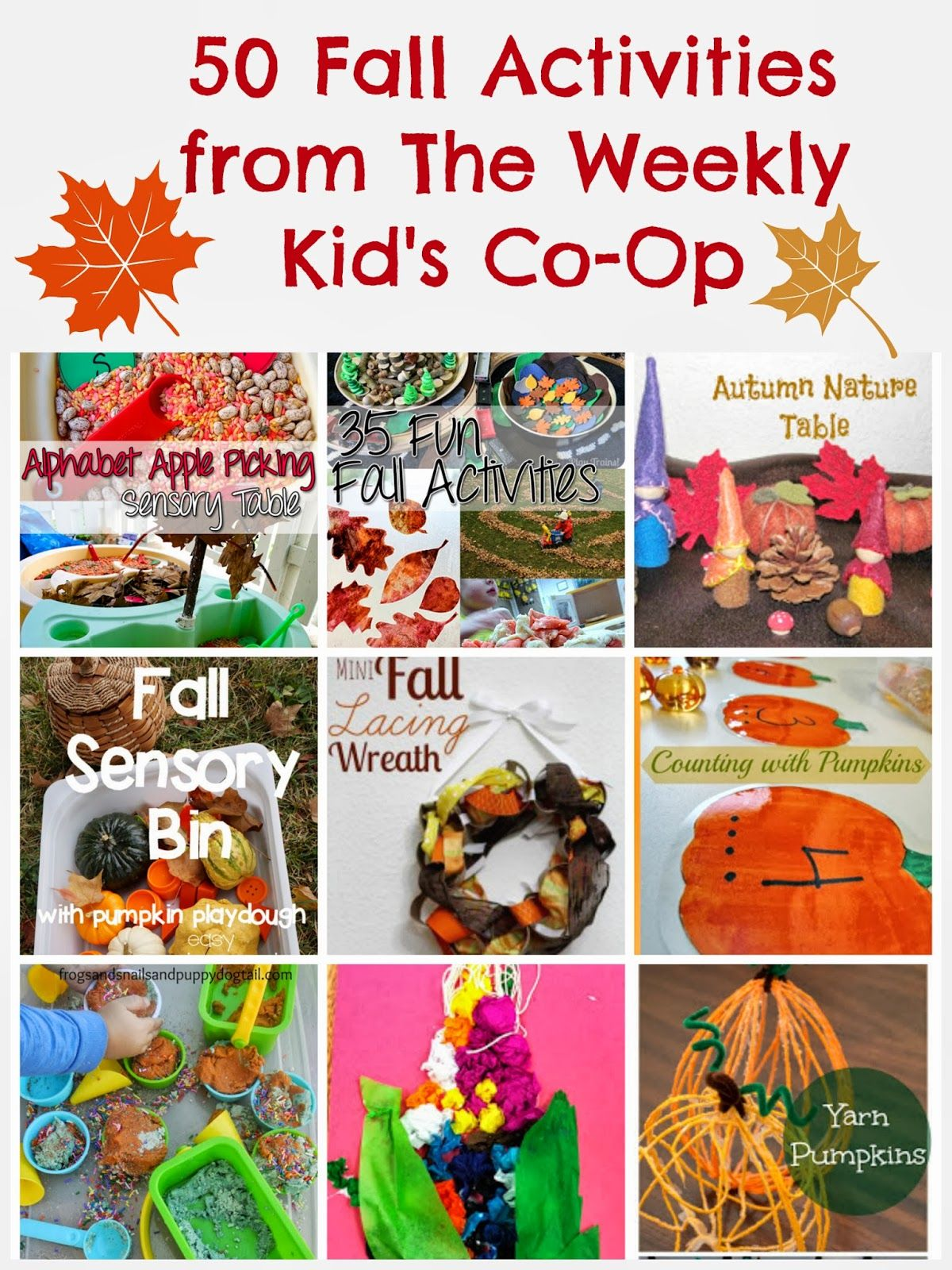 Kid S Co Op 50 Fall Activities From The Kid S Co Op