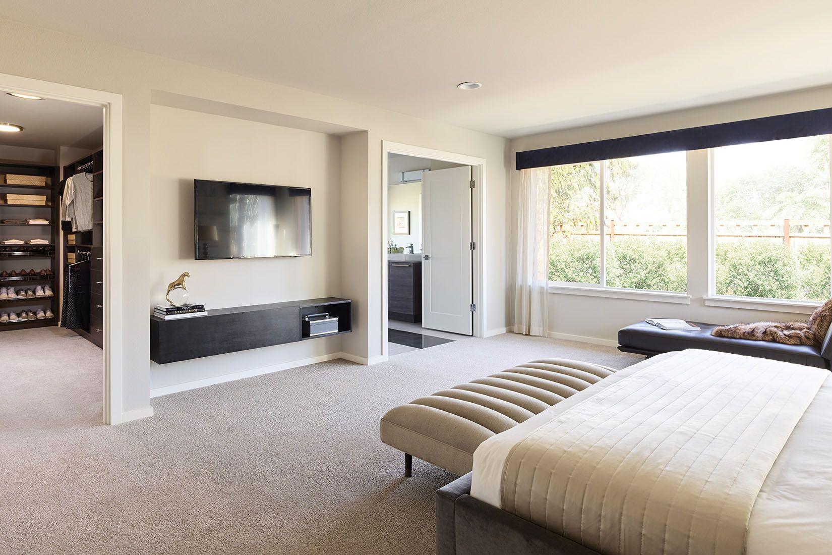 Stylish Master Bedroom Design Oversized Dressing Room And Double Doors Into Master Bath By M Stylish Master