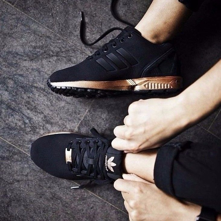 low priced 096db 7d9b2 Adidas ZX Flux Metallic Copper Core Black/Bronze Rose Gold ...