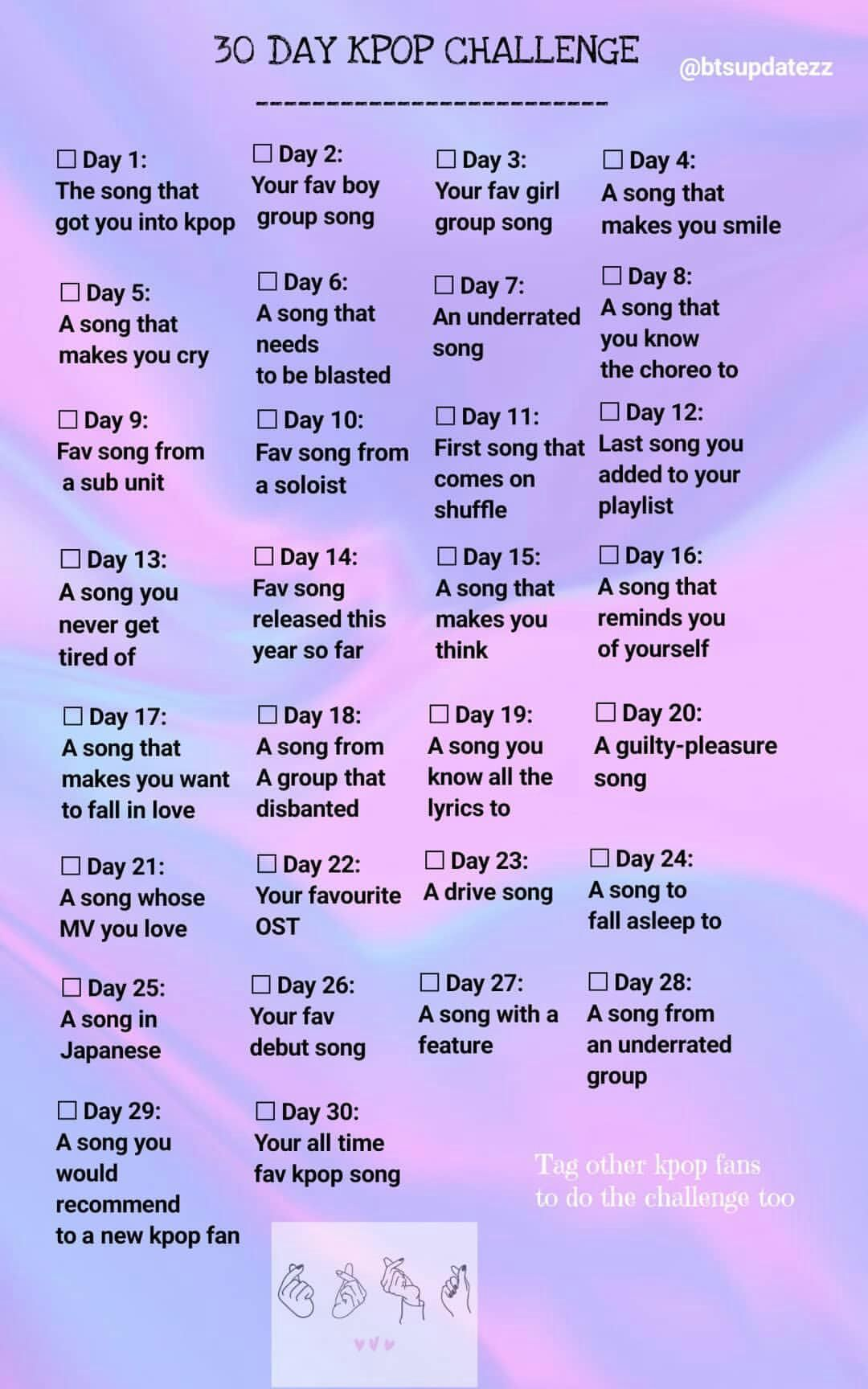 Kpop 30 Day Song Challenge Instagram Story Template Story Template Kpop Challenge 30 Day Song Challenge Song Challenge Writing Songs Inspiration