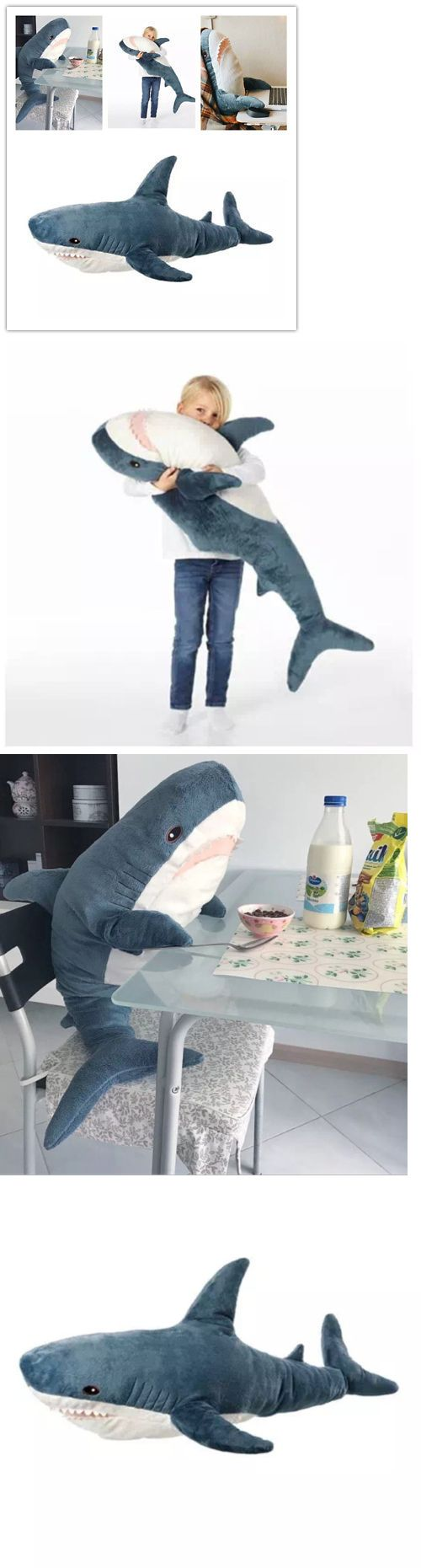 Bean Bags And Inflatables 48319 Giant Shark Pillow Soft Stuffed