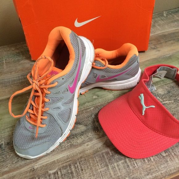 eeb26daec18 Nike flex size 8.5 and puma hat Used in great conditions super cute bundle  Nike Shoes