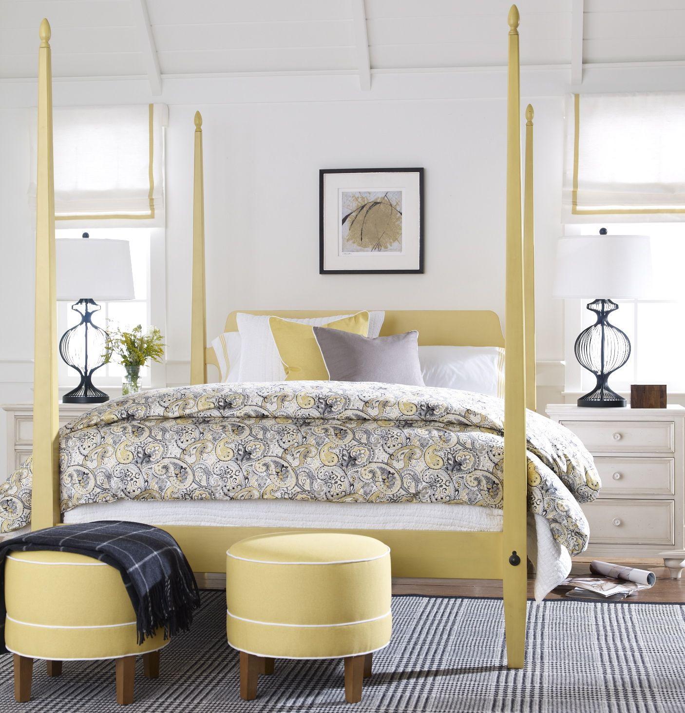Wake up to sunshine. | Bed linens luxury, Yellow bedding ...