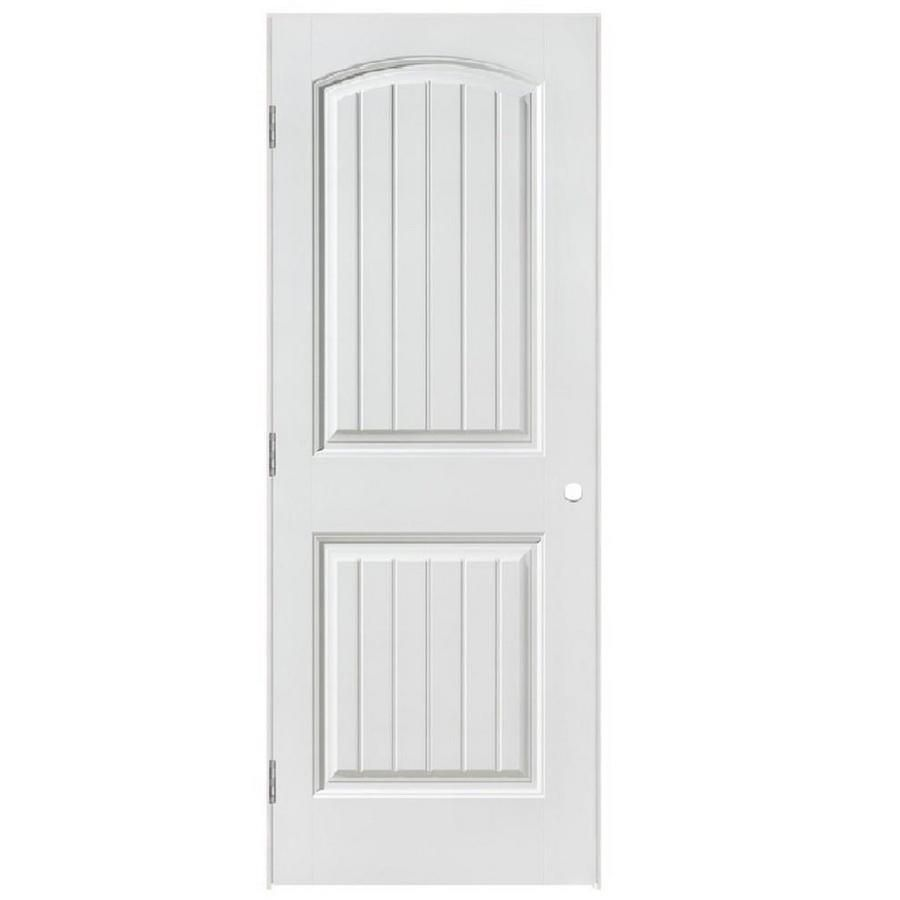 Masonite Cheyenne Primed 2 Panel Round Top Plank Hollow Core Molded Composite Pre Hung Door Common 28 In X 80 In Ac In 2020 Prehung Interior Doors House Furniture Design Prehung Doors