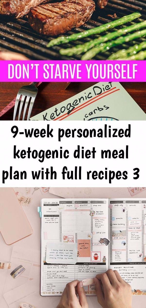 9Week Personalized Ketogenic Diet Meal Plan with Full