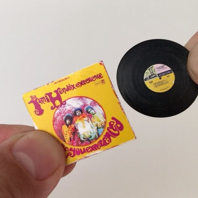 Any Guesses On What I Used To Make This Miniature Vinyl Record Be Very Specific First One To Answer Correctly W Miniatures Vinyl Records Halloween Miniatures