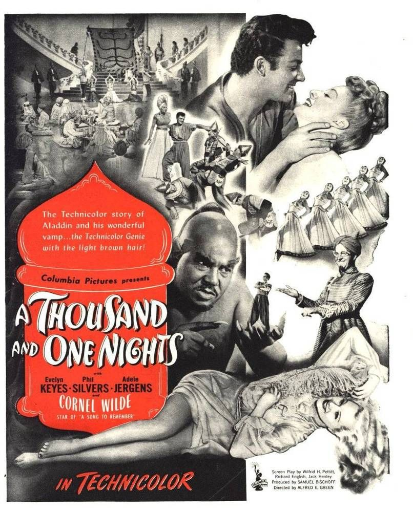 VINTAGE MOVIE PRINT AD 1945 A THOUSAND AND ONE NIGHTS