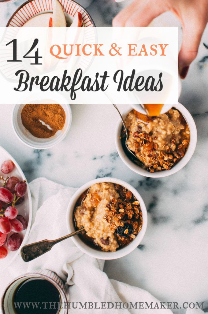 14 quick & easy breakfast ideas {real food, fast} | the humbled images