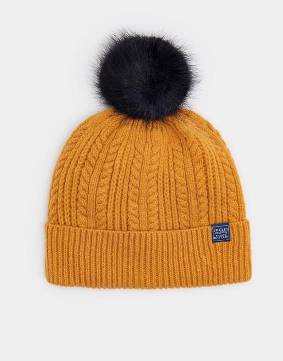 Joules UK Knitted Womens Bobble Hat  1e45e3e0b38