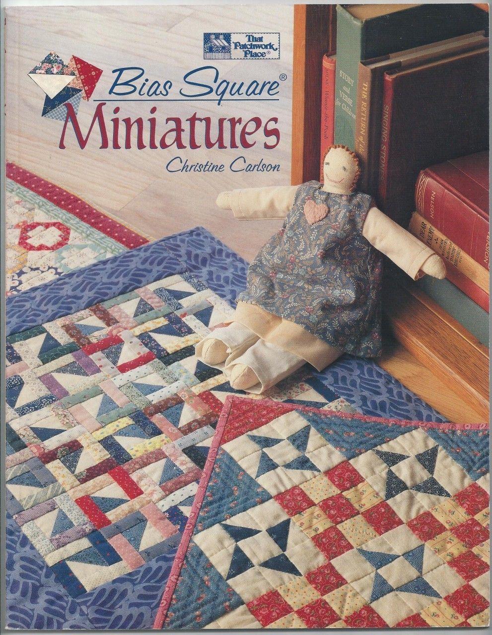 Bias square miniatures quilting book christine carlson