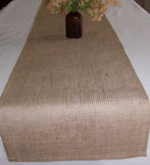 Is anyone selling burlap table runners? :  wedding burlap diy reception table decor Burlap Table Runner 14 X 72