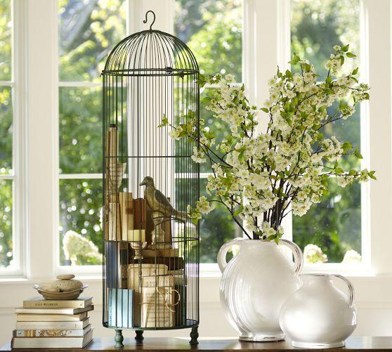 Tall Wire Birdcage Bird Cage Decor Bird Cage Centerpiece Wedding Large Bird Cages