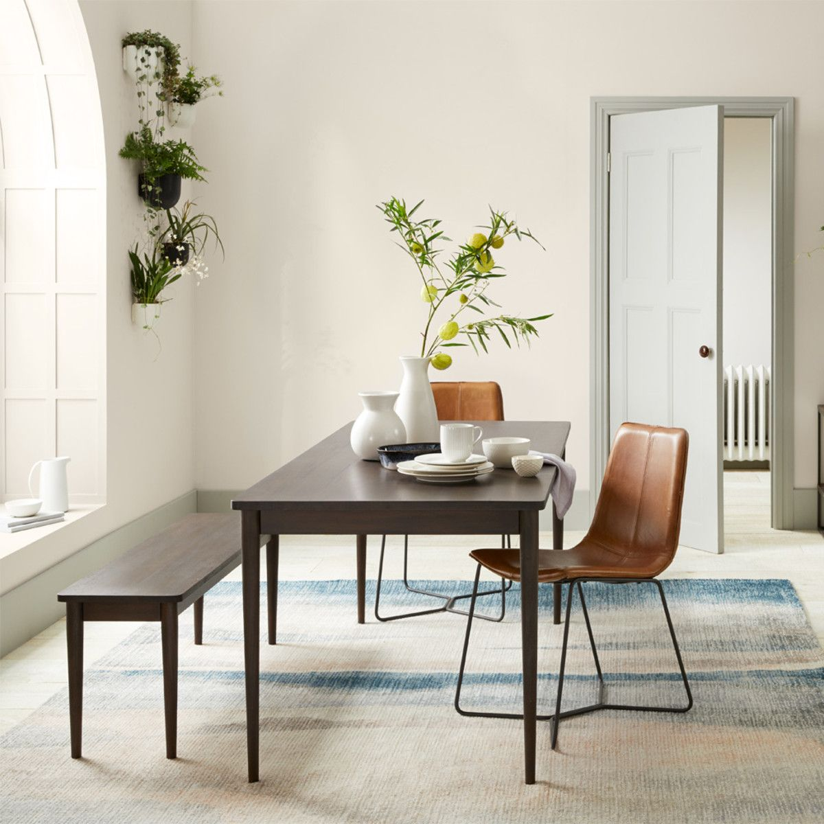 Modern Farmhouse Expandable Dining Table Dark Mineral West Elm