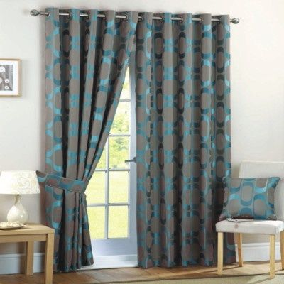 Beautiful Colors In These Curtains Gray And Teal Grey Curtains Living Room French Country Living Room Curtain Designs