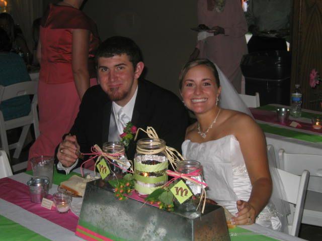 Mr. & Mrs. Martin having dinner at the reception.
