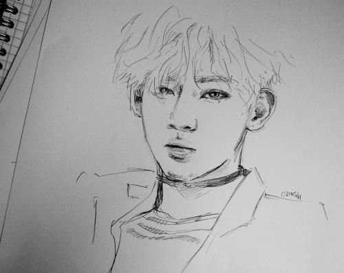 sketching draw fan art got7 yuri paint babe kpop dibujo
