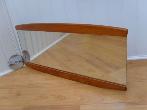 60's/70's TEAK WALL MOUNTED MIRROR, Vintage SOLID WOOD OVERMANTLE, Retro HALLWAY | eBay