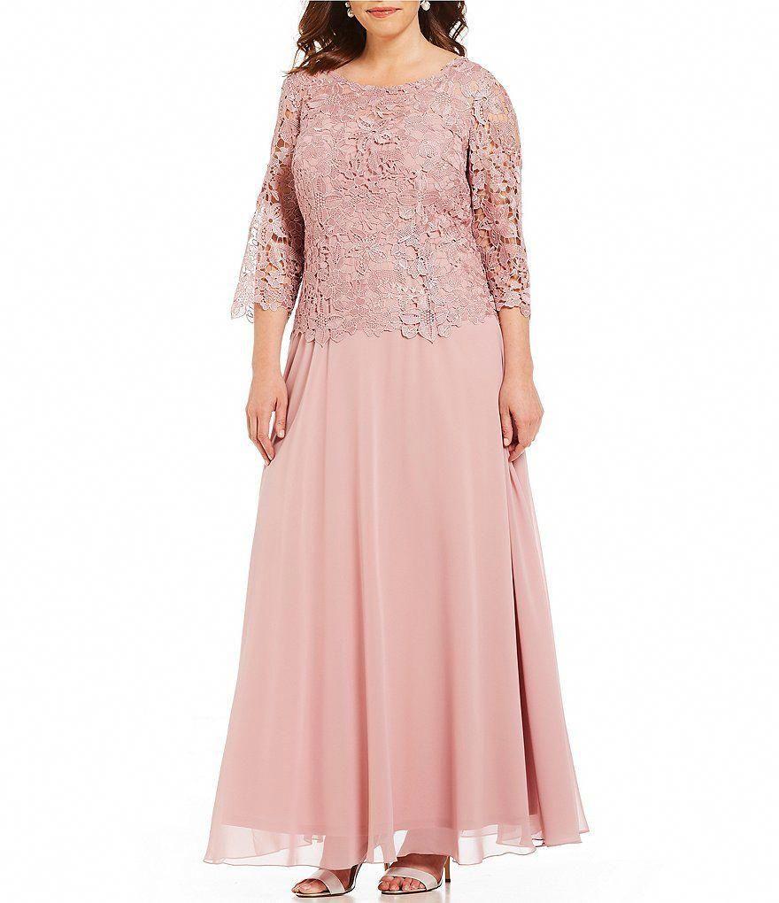 aac6c05225e Emma Street Plus Size Lace Bodice Long Gown   PlusSizeMotherOfTheBrideDressesUk