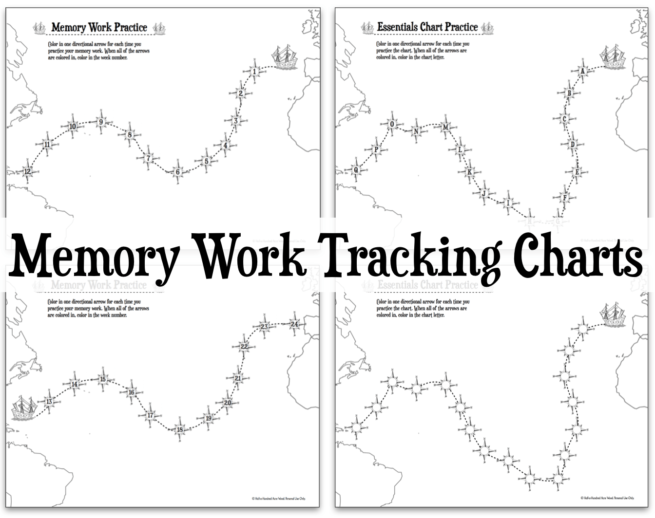Memory Work Tracking Charts Foundations Amp Essentials