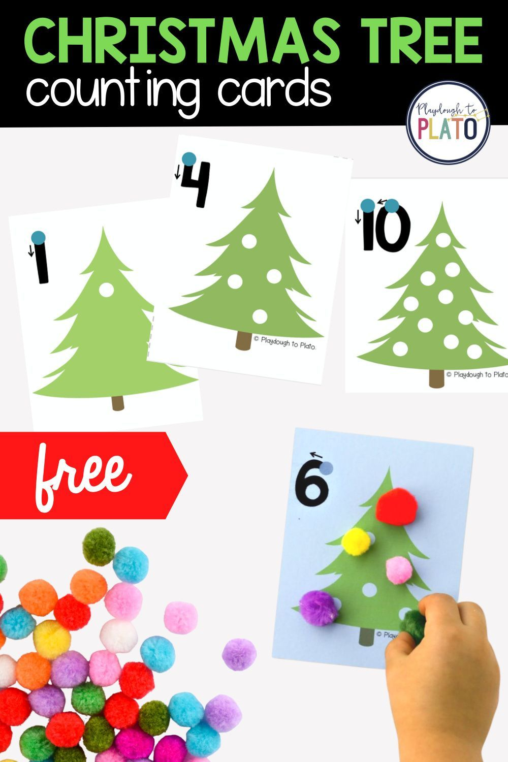Christmas Tree Counting Cards Playdough To Plato Christmas Learning Activities Preschool Christmas Activities Christmas Learning [ 1500 x 1000 Pixel ]