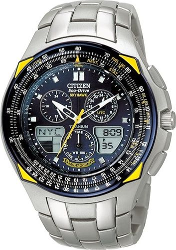 d4417026c5d CITIZEN PROMASTER ECO-DRIVE SKYHAWK TITANIUM BLUE ANGELS PILOTS WATCH  JR3090-58L