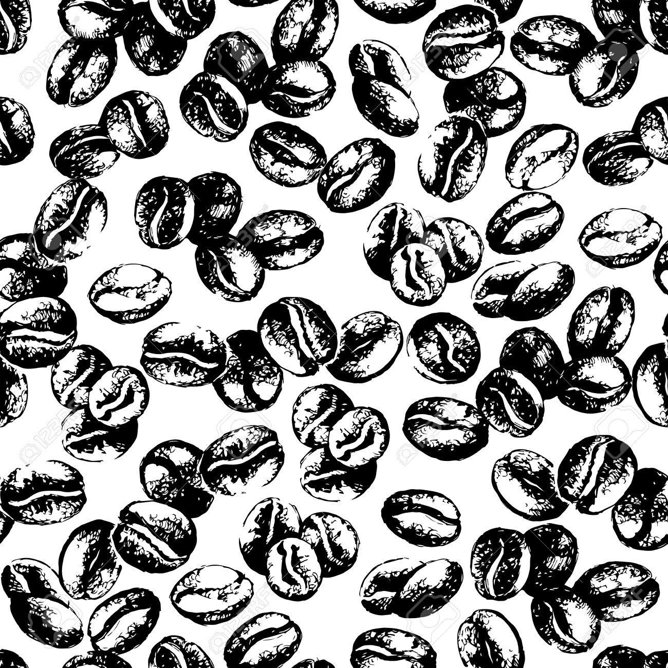 Coffee beans pattern ilustraciones manualidades cafeteria