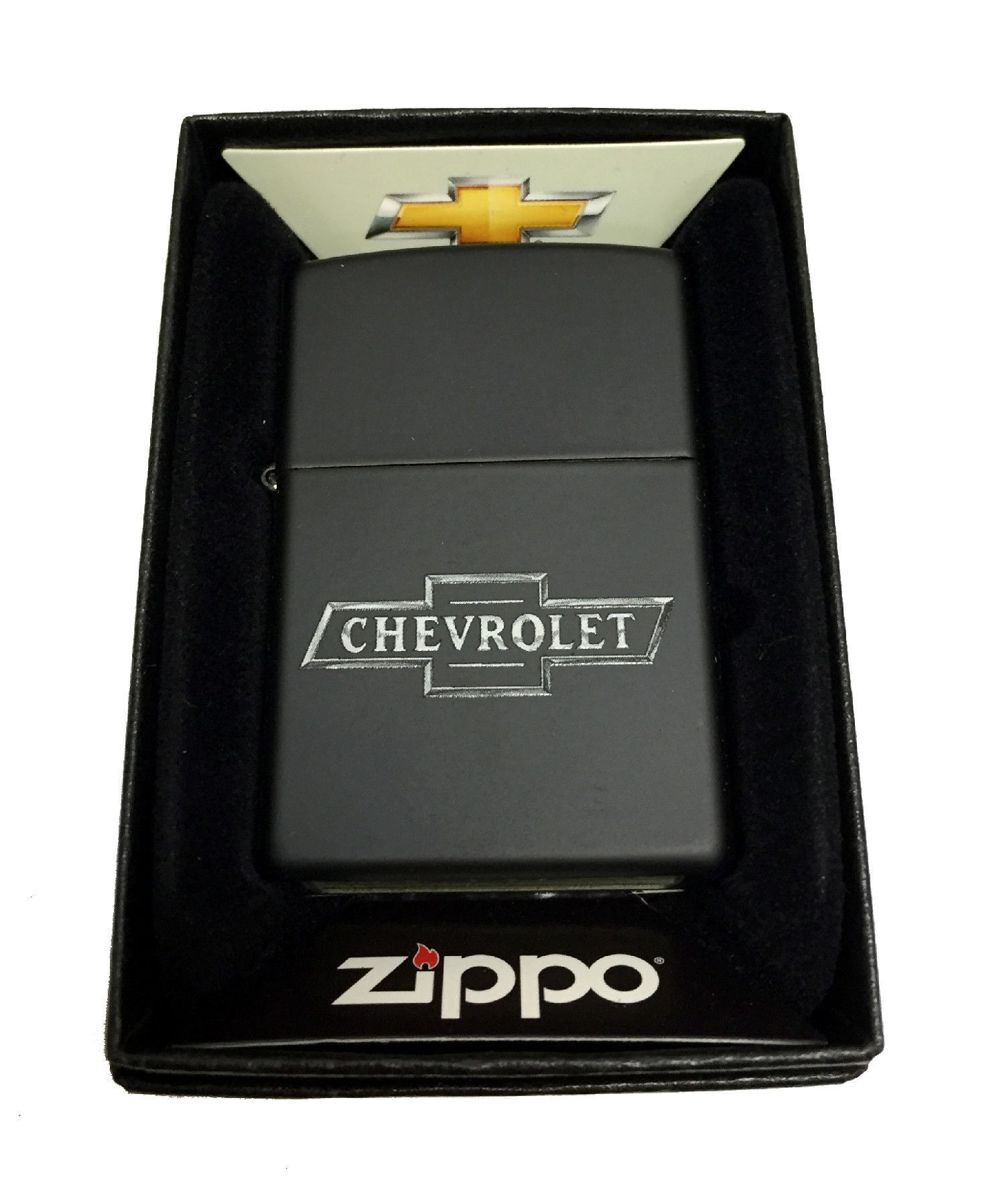 Zippo Custom Lighter Chevy Chevrolet Bowtie Logo Regular Black Matte 218ci016223 With Images Custom Lighters Chevy Chevrolet Chevrolet Bowtie