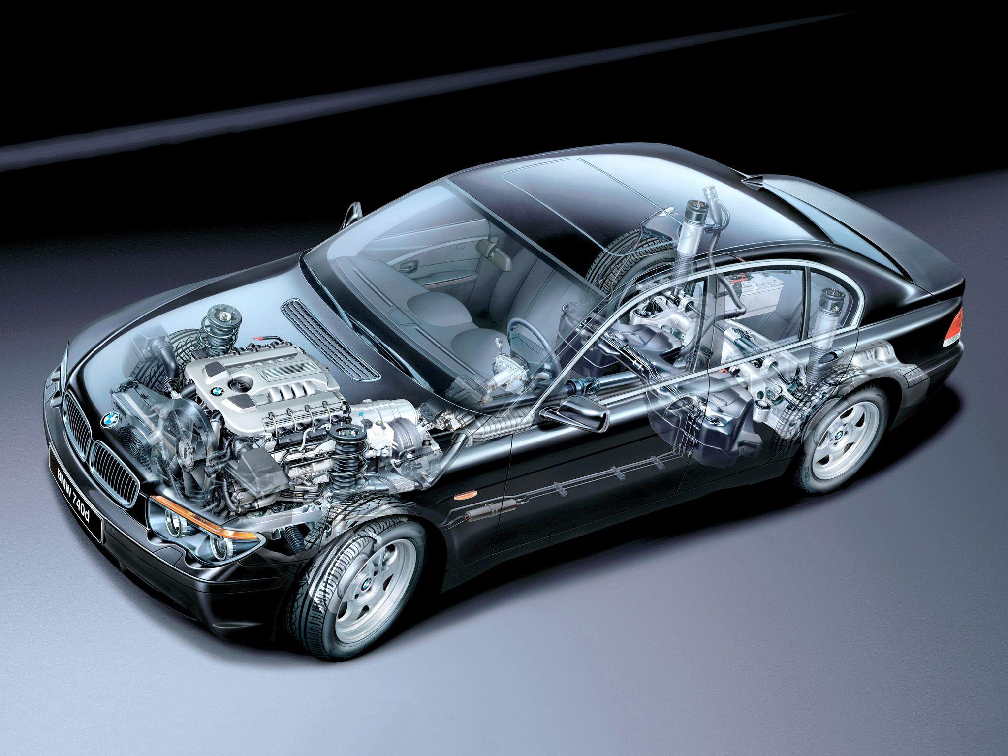2002-2005 BMW 740d (E65) - Illustrator uncredited | Cutaways ...
