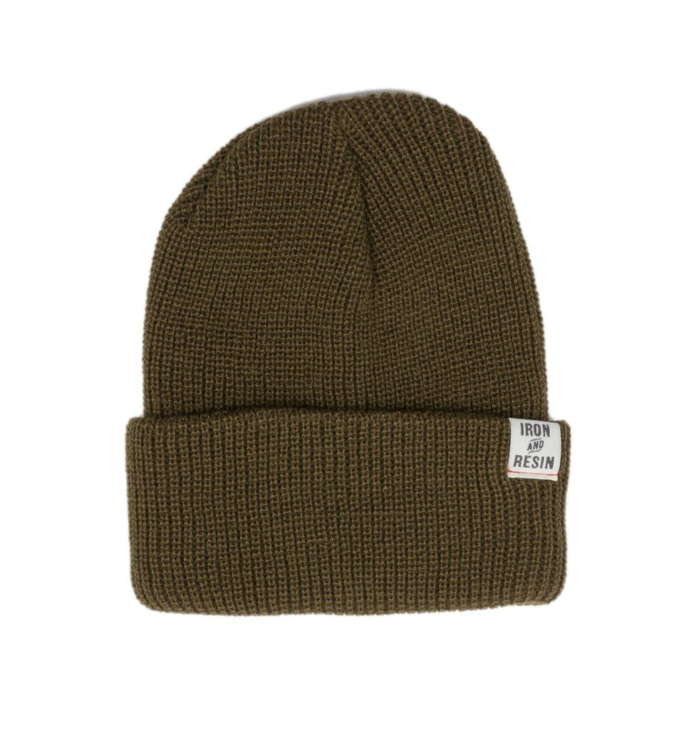 3a460ffe077 Iron   Resin Watchman Beanie in olive 28.00