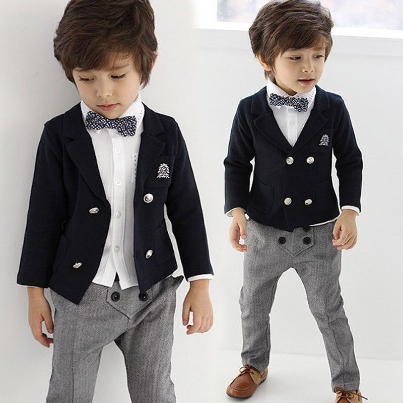 Children Outfit Sets Kids Clothing Suit Baby Boys Gentleman Formal Wedding Suits